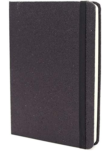 Cuaderno Purpurina Negra - 120 Páginas Con Líneas