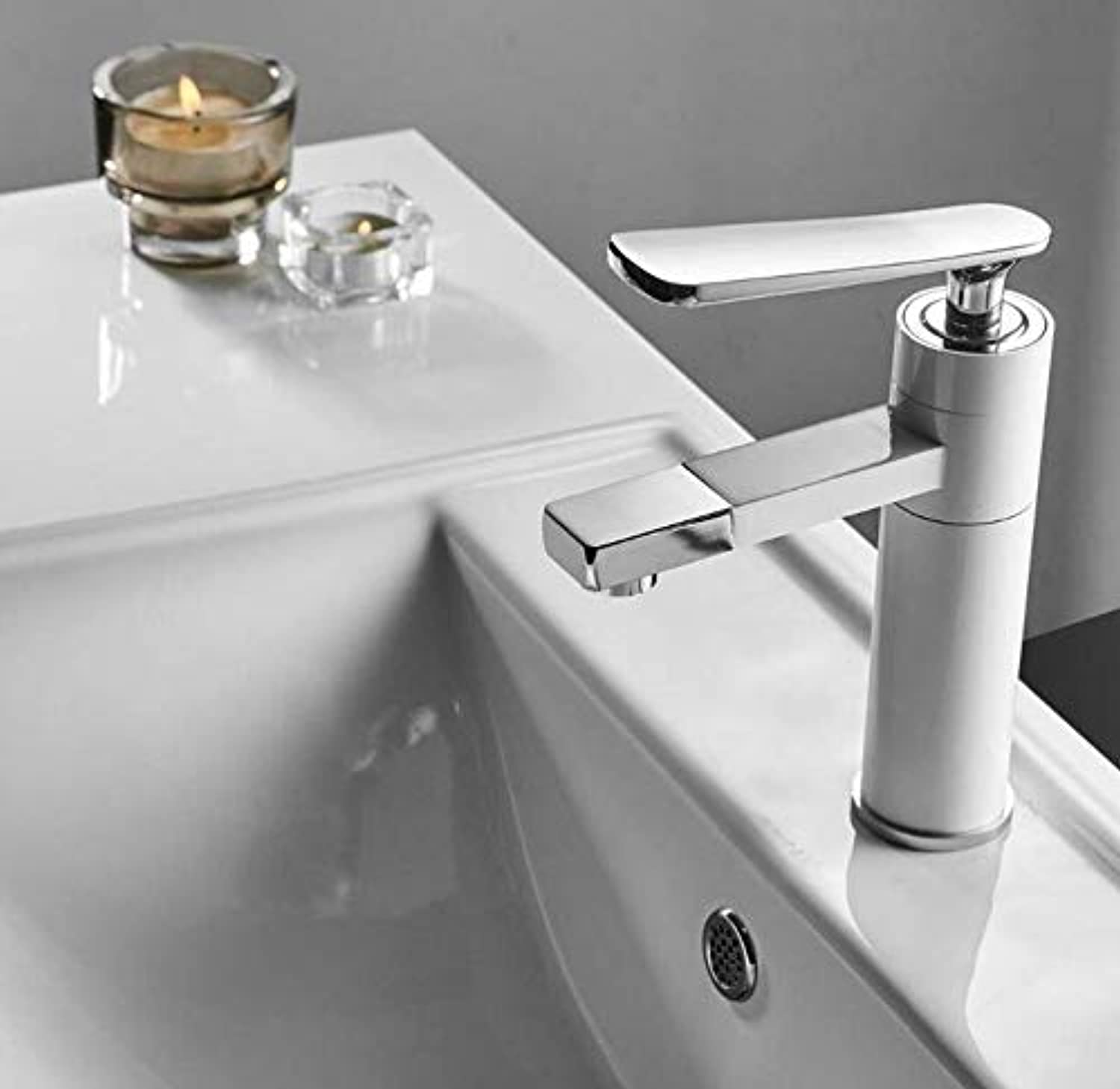 Retro Faucet Chrome Faucet Tap Bathroom Sink Faucet Single Handle Hole Deck Mounted Wash Hot And Cold Mixer Tap