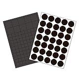 GAUDER 145x Magnetplättchen & Magnetpunkte selbstklebend   Magnetstreifen   Magnet-Plättchen für Fotos, Postkarten & Schilder