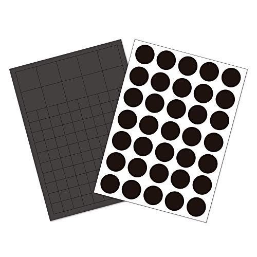 GAUDER 145x Magnetplättchen & Magnetpunkte selbstklebend | Magnetstreifen | Magnet-Plättchen für Fotos, Postkarten & Schilder