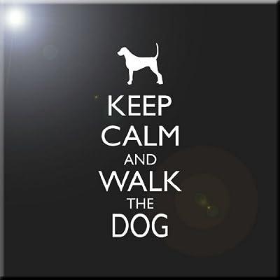 Rikki Knight Keep Calm and Blame The Dog-Black Color Design Ceramic Art Tile 12 x 12