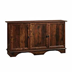 """Adjustable shelf behind each door for flexible storage options Detailed instruction book for easy assembly Featuring CURADO CHERRY finish by Sauder Engineered wood construction Assembled dimensions: L: 59.055"""" x W: 14.961"""" x H: 31.535"""""""