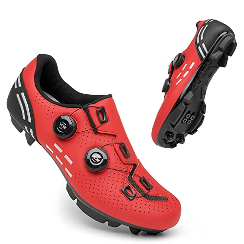 KUXUAN Zapatos de ciclismo para hombre y mujer, para interior Peloton Road Bike Zapatos con bloqueo, 5-13 UK= (285 mm) = 47EU