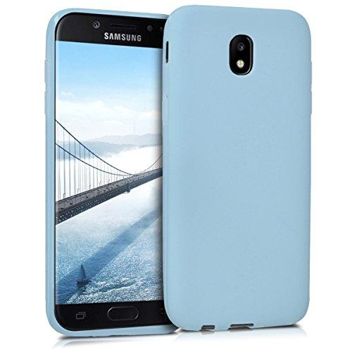 kwmobile Funda Compatible con Samsung Galaxy J5 (2017) DUOS - Carcasa de TPU Silicona - Protector Trasero en Azul Claro Mate