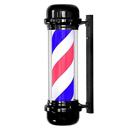 lquide Classic LED Barber Pole Light Símbolo Atractivo Roating Rojo Blanco Azul Rayas Colgante de Pared Lámpara Peluquería Salón Muestra