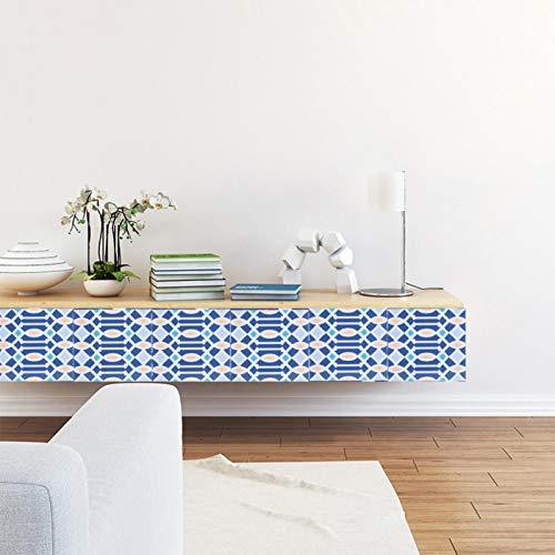 SHYEKYO 10 Piezas de Papel Tapiz Autoadhesivo extraíble 10x10 cm decoración Impermeable baño para Muebles de Cocina para el hogar(Section 6)