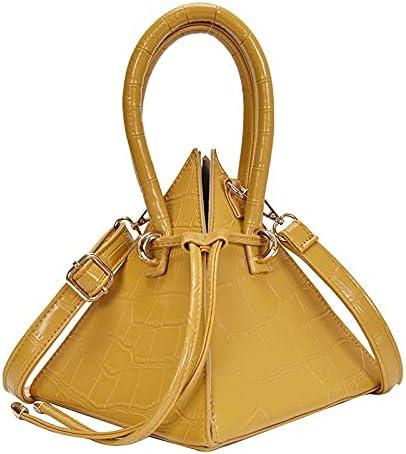 MXYSP Luxury Crocodile Pattern Triangle Ladies Handbag Design Drawstring Evening Messenger Bag Pyramid Shoulder Bag (Color : C, Size : 1)