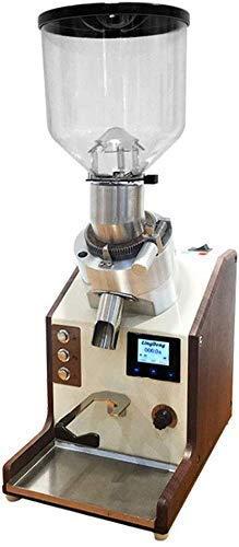 Máquina de café Molinillo de café eléctrico con disco de molienda de acero de titanio duro importado de Italia Máquina de molienda de granos de café Panel de control LCD Capacidad de almacenamiento de