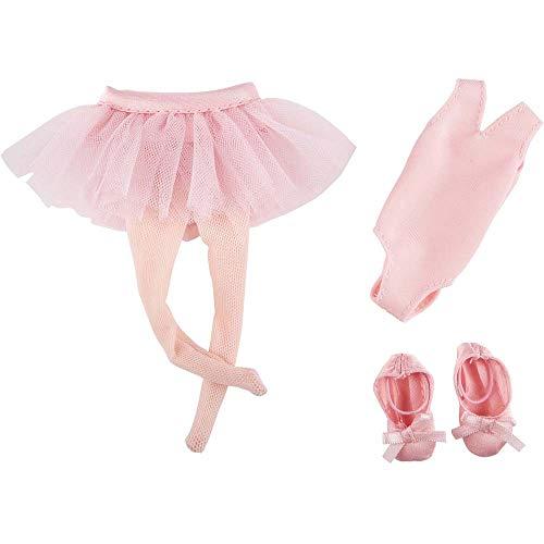 Käthe Kruse K126862A4 Juguetes Niños Muñecas Accesorios Tutu Body Leggins Bailarinas Danza, Rosa, Color