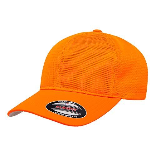 Flex fit Men's 360 Omnimesh Cap, Neon Orange, L/X-Large