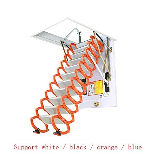 Escalera telescópica del ático invisible Escaleras plegables en el techo Escalera loft de aleación casera desplegable tamaño personalizable 2M-4M (Alta 2.5M,Hole custom)
