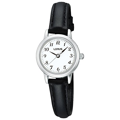 Lorus Watches Ladies Black And White Plastic Strap Watch