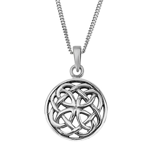 Celtic Eternity Knotwork Round Style Necklace Pendant Ciara - Includes 16' Chain