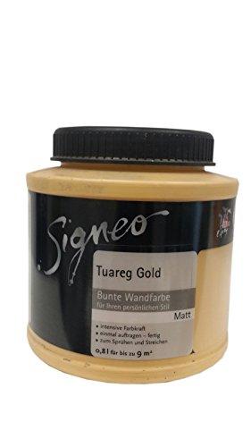 Signeo Bunte Wandfarbe 0,8 Liter Tuareg Gold Matt
