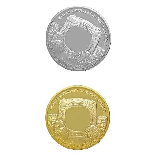 T TOOYFUL 2pcs 40mm Vergoldet Spielmünzen, Gedenkmünzen Sammelmünzen Geschenk Münzen für Freunde