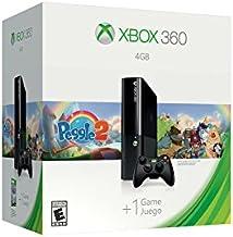Console Microsoft Xbox 360 Preto 4gb de Memoria Controle Sem Fio + Jogo Peggle 2