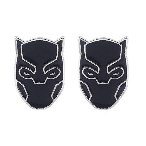Pendientes Pantera Negra Avengers Infinity War Superhero Cartoon Model Ear Studs