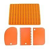 MOPOIN Stampo in silicone per biscotti per cani, senza BPA, con 2 tagliapasta per dolci (arancione)