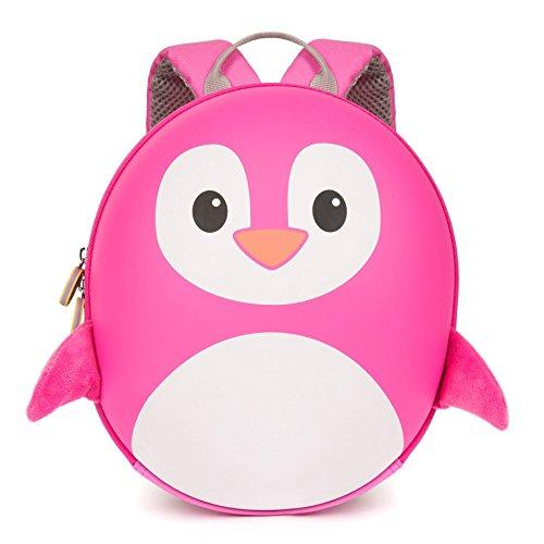 boppi Tiny Trekker Mochila Infantil De Viaje para Vacaciones - 4 litros - Pingüino Rosa