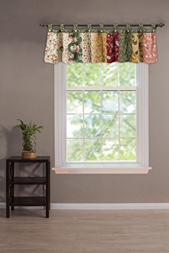 Greenland Home Antique Chic 21 X 84-Inch Cotton Window Patchwork Valance, Multicolor
