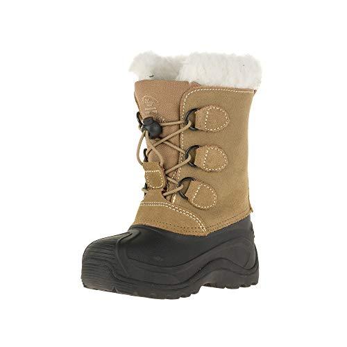 Kamik SNOWDASHER, Unisex-Kinder Warm gefütterte Schneestiefel, Beige (PUTTY-BEIGE / PUT), 36 EU