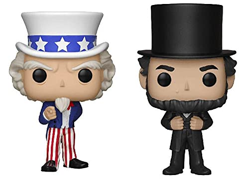 2 unids / Set Presidente de Estados Unidos Abraham tío Sam Figura colección Vinilo muñeca Modelo Juguetes 10 cm
