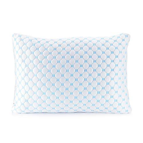 Clara Clark Gel Infused Shredded Memory Foam Adjustable Soft Bed Pillow Reversible Multi-Use Cool to Velvety, Toddler Set of 2, White