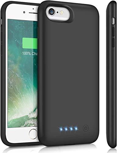 SWEYE Funda Batería para iPone 6/6s/7/8/SE 6000mAh Funda Cargador Portátil [Versión Mejorada] Carcasa Batería para ipone 8/7/6s/6/SE Power Bank Case Funda-batería con Diseño Ligero y Elegante