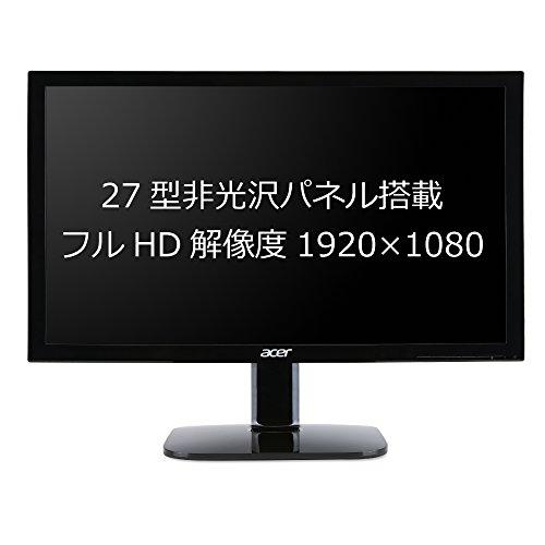 『Acer ディスプレイ モニター KA270Hbid 27インチ/フルHD/4 ms/HDMI端子付』の1枚目の画像