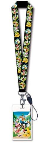 Disney Mickey & Gang Black Lanyard with Card Holder, Model: 24888, Toys & Gaems