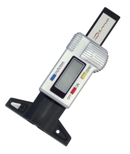 Dino 130005 Digitaler Reifenprofilmesser mit LCD-Display inklusive Batterie