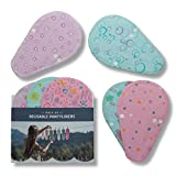Reusable Panty Liners, 7-Pack Thong Organic Cotton Daily Liners w/o PUL, Made in EU, Extra Thin Reusable Tanga Cloth Pantiliner for Women, No Odor Pantyliner, Washable Everday Pad for Daily Hygiene