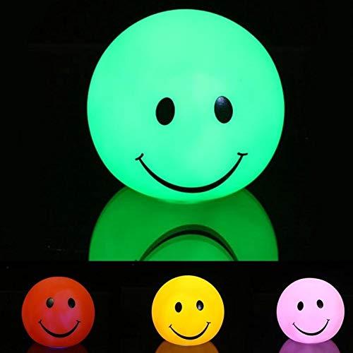 MMPY Luz del gabinete lámpara de cabecera 2 PCS Creativo Smiley Colorido luz de la Noche lámpara de Noche
