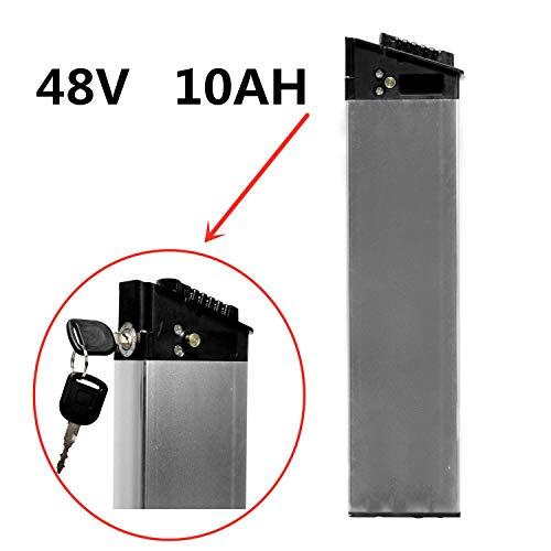 LANKELEISI Batería Oculta 48V 10AH para Bicicletas eléctricas. Batería de Repuesto de biciclo eléctrico ebike e-Bicyle