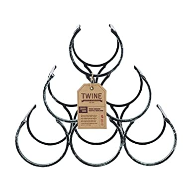Country Home Wine Shrine by Twine – 6 Bottle Free Standing Metal Wine Rack