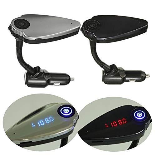 WZhen Cargador inalámbrico del Usb del transmisor del Fm del equipo del jugador del coche de Bluetooth para el teléfono - negro