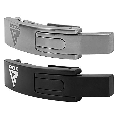 RDX Replacement Lever Buckle for Weight Lifting and Powerlifting Belts, Stainless Steel Chrome Plated Cast Alloy Spare Clasp Closure, Fast Tightening and Quick Release (Belt NOT Included)