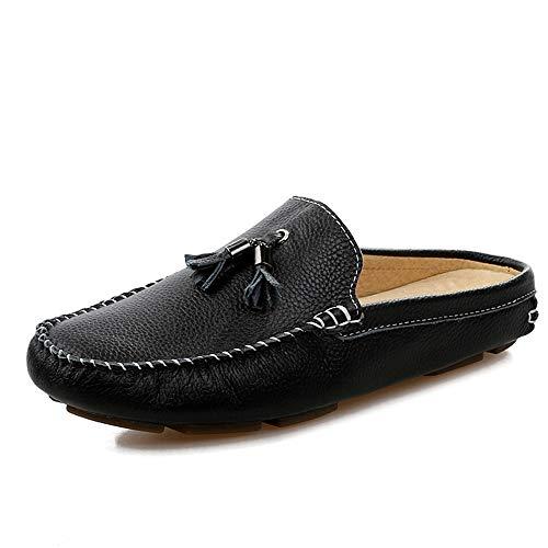 JIALUN-Zapatos Mocasín de Unidad para Hombres Mocasines de Barcos Resbalón en el...