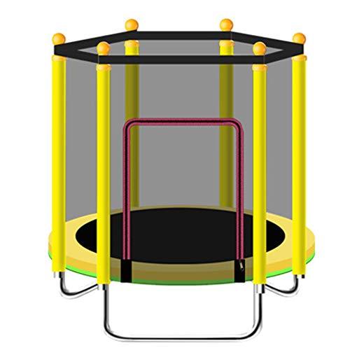 Pc-Hxl Trampoline met veiligheidsnet behuizing Indoor Mini Fitness Trampoline Oefening Rebounder Cardio Workout Training Rustig en veilig voor volwassenen Kinderen Opvouwbare Rebounder Mini Bouncer
