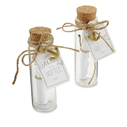"Kate Aspen ""Message in a Bottle Glass Favor Bottle, Party Gift, Wedding Decorations, Set of 12"