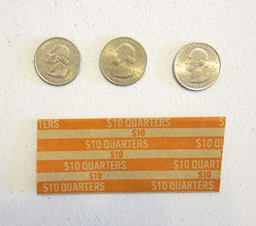 400 Coin Wrappers for Quarters Quarter Paper Coin Wrapper