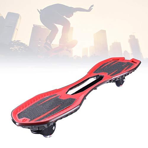 Grist CC LED Waveboard Swing Board, Streetsurfing Skateboard, Mit 360° Rotieren Leuchtenden Rädern, Torsion Balance Wave Boards, Für Jugendliche Erwachsene Kinder,Rot