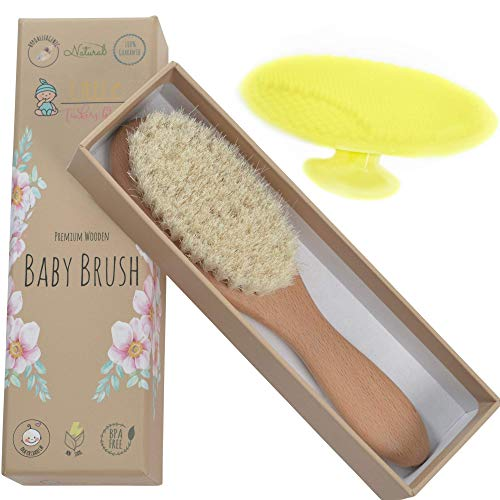 Wooden Baby Hair Brush - Healthcare and Grooming for Newborns &...