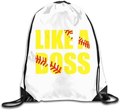 engzhoushi Turnbeutel,Sporttaschen,Schultasche Drawstring Bulk Bags Cinch Sacks Backpack Pull String Bags Softball Like A Boss