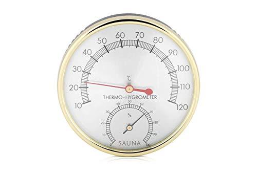 Bader Wellness® 2 in 1 Sauna Thermometer Hygrometer, Luftfeuchtigkeitsmesser, Klimamesser Luftfeuchtigkeit Saunazubehör für Humidore Gewächshaus Garten Keller