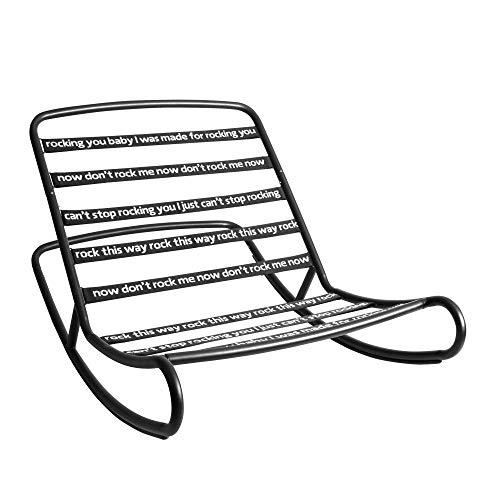 Fatboy® Rock n Roll schwarz I Schaukelstuhl kann mit jedem Fatboy Sitzsack für Draussen 126 x 87 x 71 cm