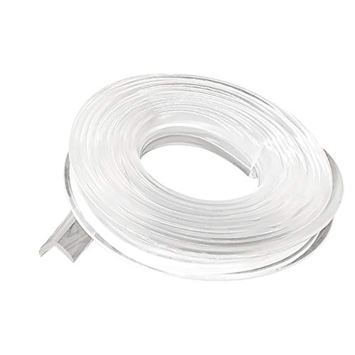 Kollisionssicherer transparenter Silikonstreifen, Soft Silicone Bumper Strip mit doppelseitigem Klebeband, 6 m transparentes Silikonband+15 m doppelseitiges Klebeband