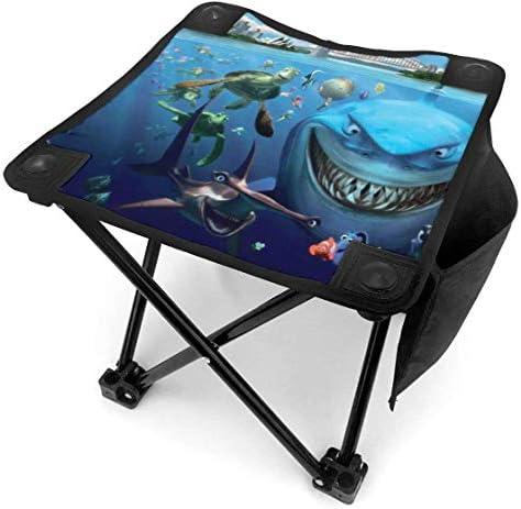 liang4268 Haaien en vissen opvouwbare campingkruk lichtgewicht stoelen draagbare stoel voor volwassenen vissen wandelen tuinieren en strand met draagtas