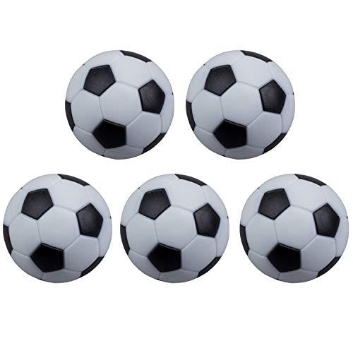 POFET 5 piezas de futbolín blanco y negro de resina de plástico...