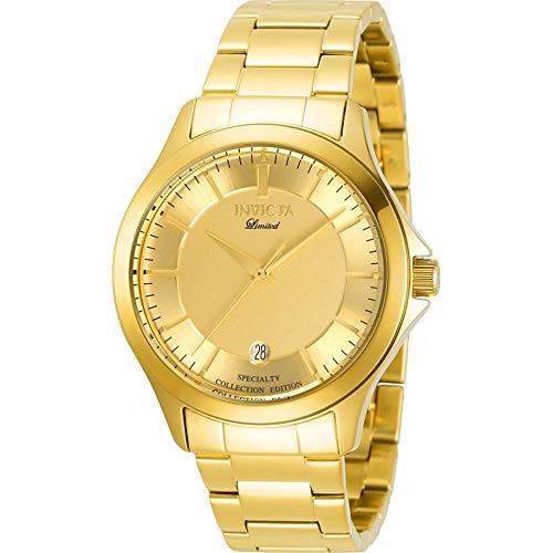 Invicta 31124 Men's Specialty Yellow Gold Bracelet Quartz Watch